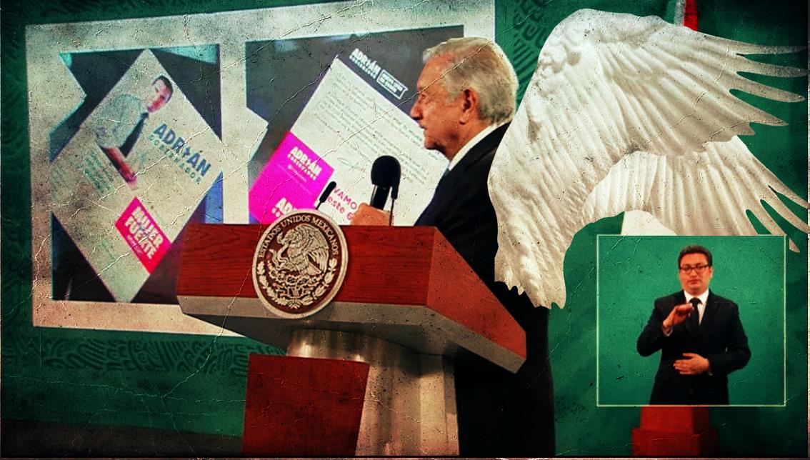 """AMLO, el """"Guardián de la Democracia"""" expone al candidato priista Adrián de la Garza. Si no es el presidente ¿quién pondrá alto a delitos electorales, el INE?"""