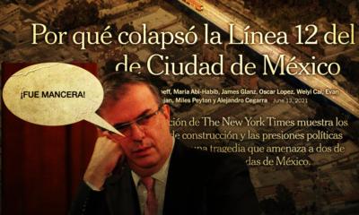 Marcelo Ebrard muestra carta al New York Times por la investigación 'Por qué colapsó el Metro de la Ciudad de México', que lo señala de responsable. Pero el canciller echa la bolita a Mancera…